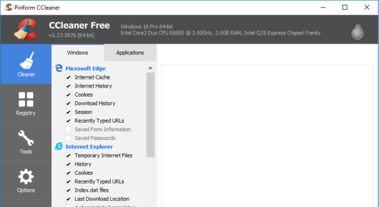 Screenshot 1 for CCleaner