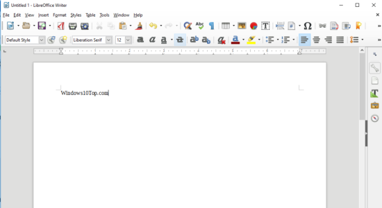 Screenshot 2 for LibreOffice