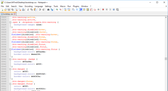 Screenshot 1 for Notepad++
