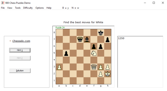 Screenshot 1 for 900 Chess Puzzles