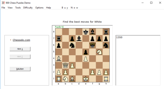 Screenshot 2 for 900 Chess Puzzles