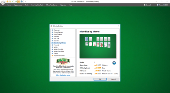 Screenshot 1 for 123 Free Solitaire