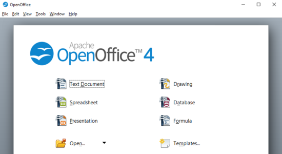 Screenshot 1 for Open Office