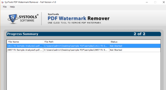 Screenshot 1 for SysTools PDF Watermark Remover