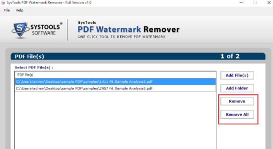 Screenshot 2 for SysTools PDF Watermark Remover