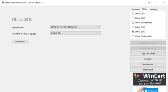 Screenshot 2 for Microsoft Windows and Office ISO Download Tool