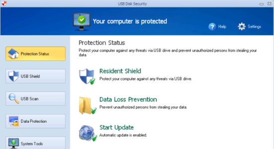 Screenshot 1 for USB Disk Security