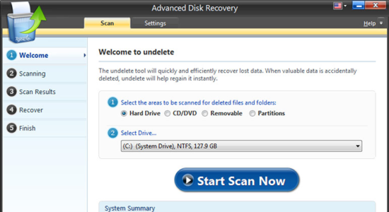 Screenshot 1 for Advanced Disk Recovery