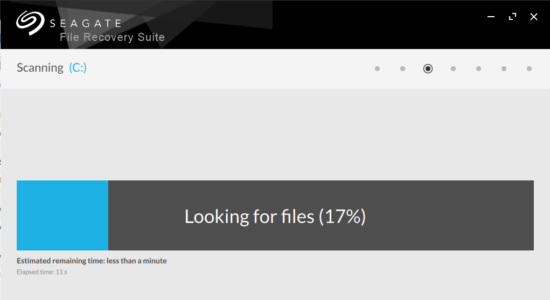 Screenshot 2 for Seagate File Recovery Suite