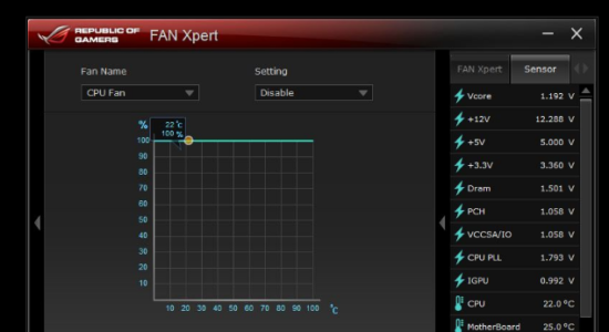 Screenshot 1 for Asus Fan Xpert