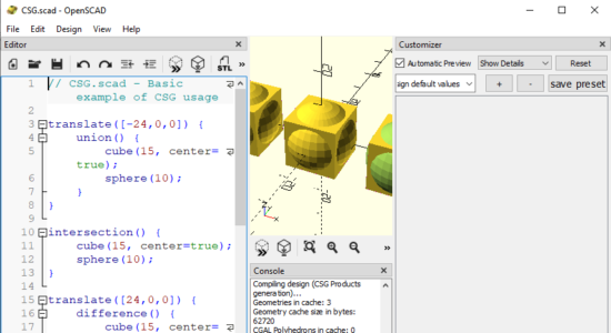 Screenshot 1 for OpenSCAD