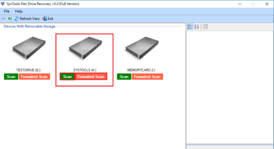 Screenshot 1 for SysTools USB Recovery Tool